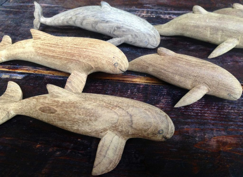 Reclaimed Teak Driftwood Dolphins