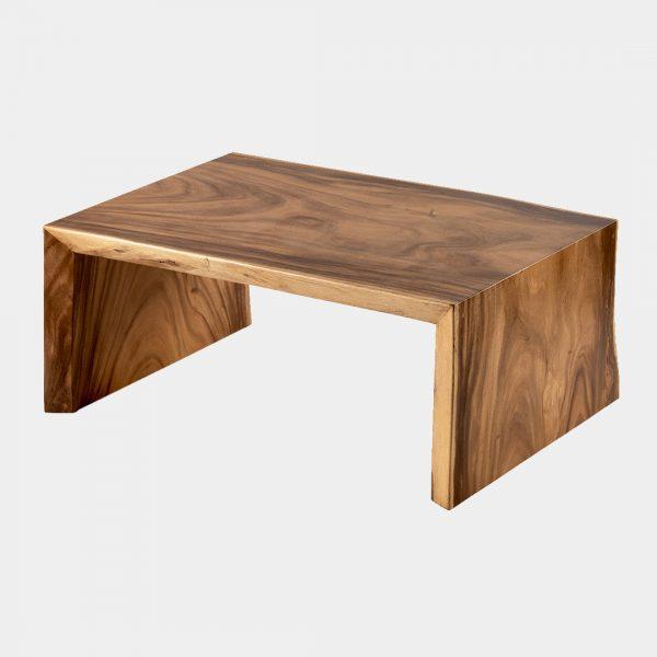 Live Edge Reclaimed Burmese hardwood Cascading Coffee Table 1
