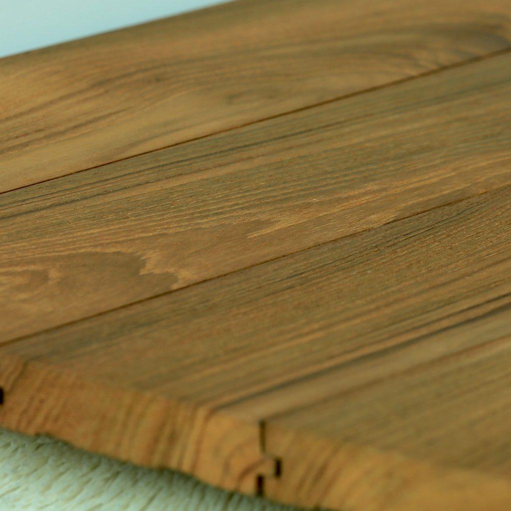Reclaimed Teak Hardwood Flooring Smooth Finish Katha