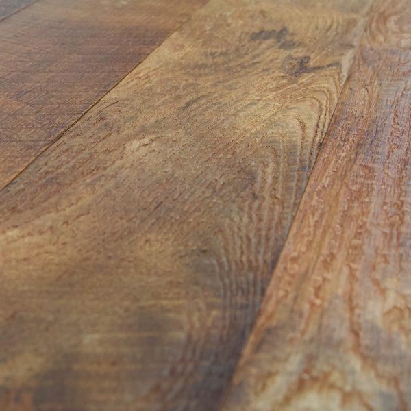 Reclaimed Teak Hardwood Flooring Textured Finishes Water Base Option