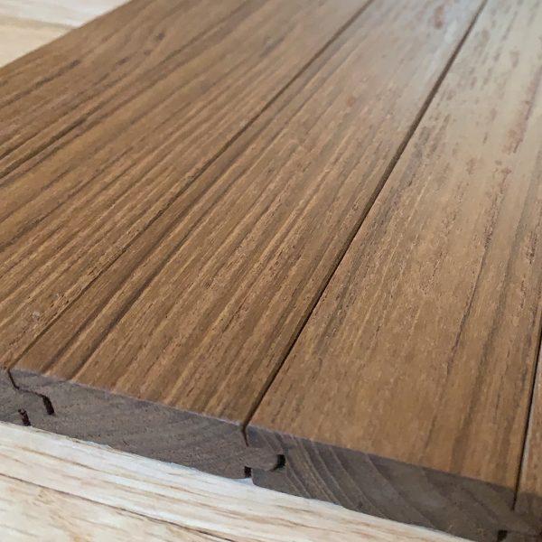 Reclaimed Teak Hardwood Flooring Wire Brush Raw And Finished Chindwin