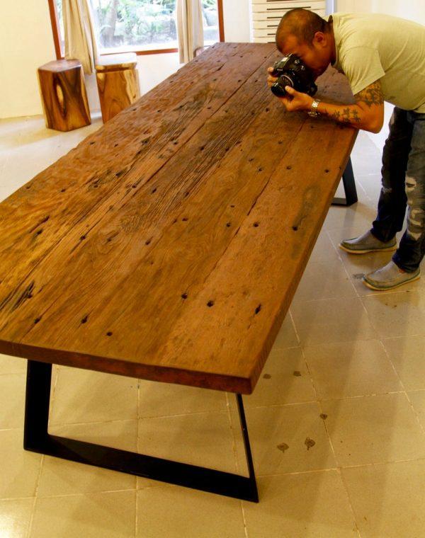 Rustic Reclaimed Teak Table - Untouched