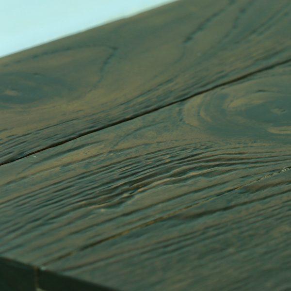 Teak Hardwood Flooring Wire Brush Raw And Finished Cocoa
