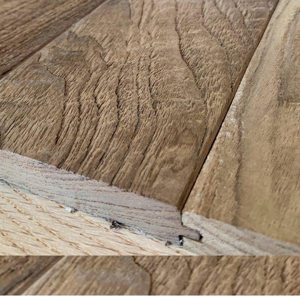 Teak Hardwood Flooring Wire Brush Raw And Finished Original