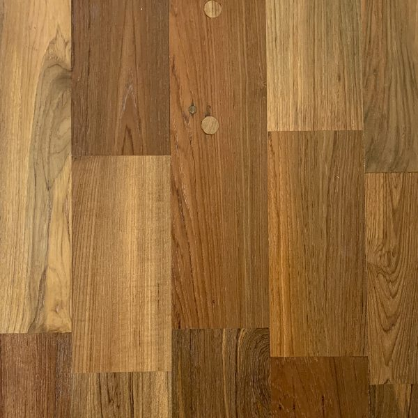 Techtona Reclaimed Teak Hardwood Flooring Smooth Finish Rangoon