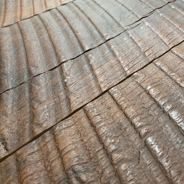 Reclaimed Teak Paneling Ban Saw Texture