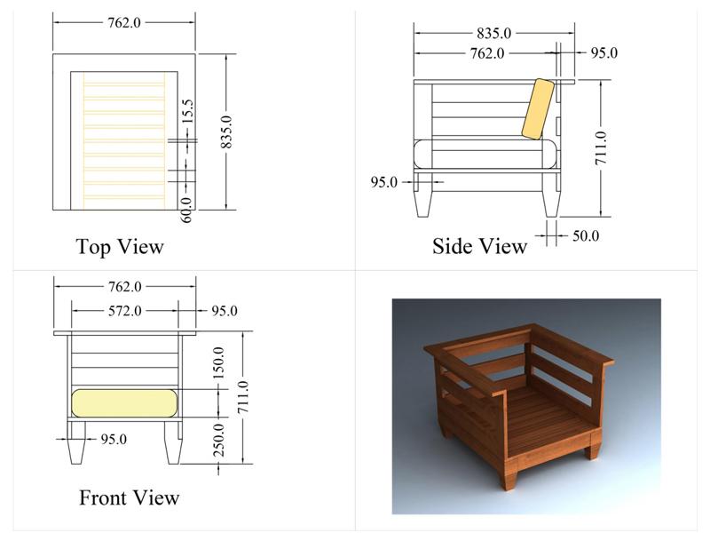 Reclaimed Teak Hardwood Chair