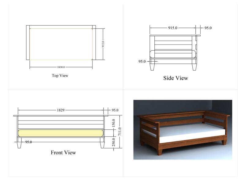 Reclaimed Teak Hardwood Outdoor Sofa