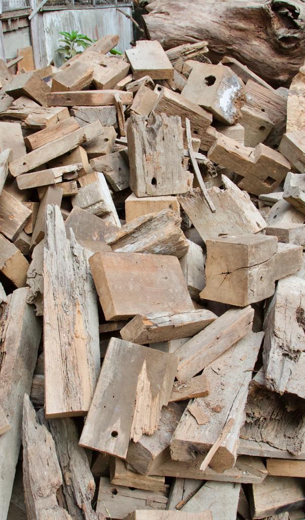 Reclaimed Teak Wood Jenga Set Pieces